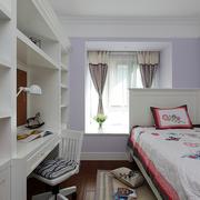 儿童房紫色墙面
