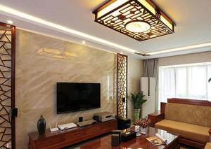 90平米现代简欧客厅石材背景墙装修效果图大全