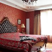 卧室红色壁纸欣赏