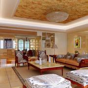 客厅黄色靓丽吊顶