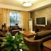 温馨素雅的客厅背景墙