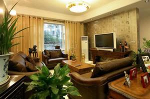 华丽的新中式风格别墅客厅电视背景墙装修图片鉴赏