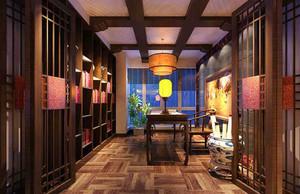 小户型中式古典高雅的书房装修效果图