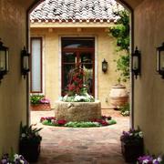 欧式风格的别墅阳台
