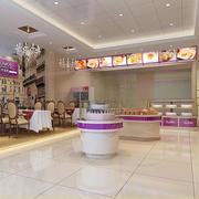 紫色浪漫的蛋糕店