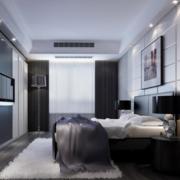 摩登前卫的公寓卧室