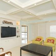 白色时尚的日式背景墙