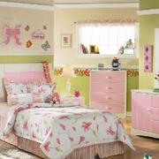 别墅儿童房粉色家具