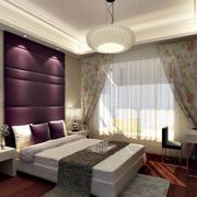 卧室紫色软包背景墙