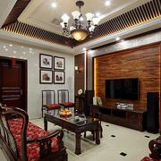实木现代化客厅背景墙