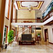 复式楼客厅背景墙