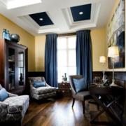 精巧现代化的客厅窗帘