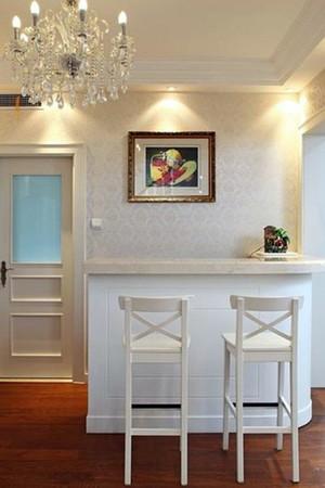 家居白色时尚的吧台