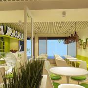 绿色小户型奶茶店