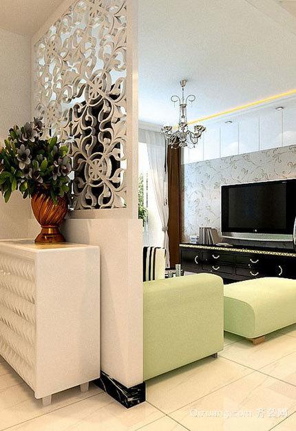 90平米吸引人的现代客厅鞋柜装修效果图大全