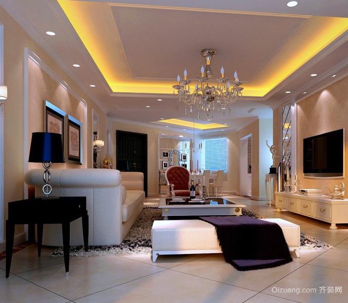 温暖舒适客厅家居地毯装修效果图