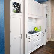 白色现代化的衣柜