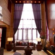 紫色浪漫的客厅窗帘