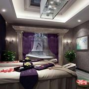 紫色浪漫的美容院