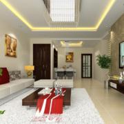 客厅白色柔软地毯