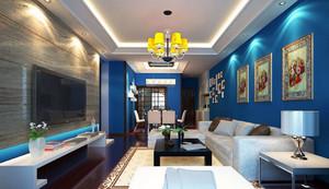 小户型纯正地中海风格客厅装修效果图