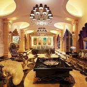 十分豪华的客厅