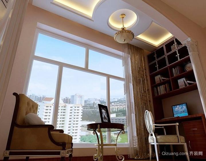 抬头可见的魅力单身公寓阳台吊顶装修效果图