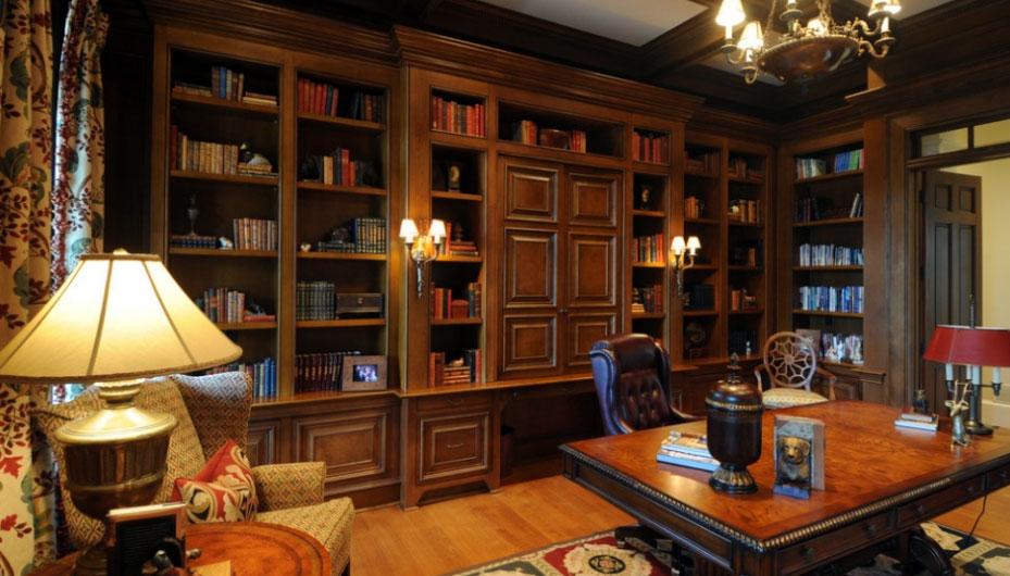 小别墅 古典欧式 书房 装修效果图 齐装网装修效