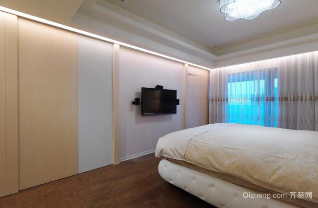 木色幽雅的卧室装修效果图