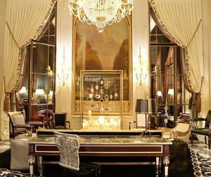 中型复式楼奢华欧式风格客厅装修效果图