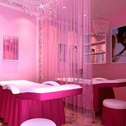 粉色的大户型美容院