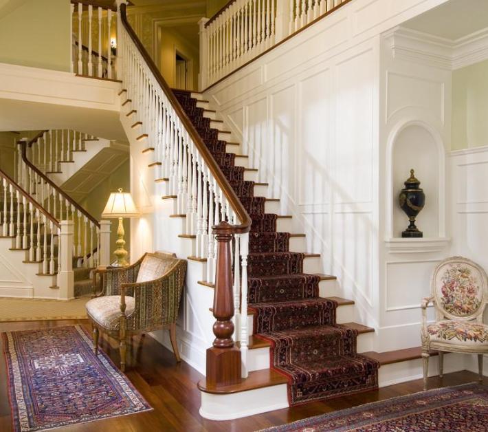 农村 奢华 小别墅楼梯扶手 装修效果图 齐装网装