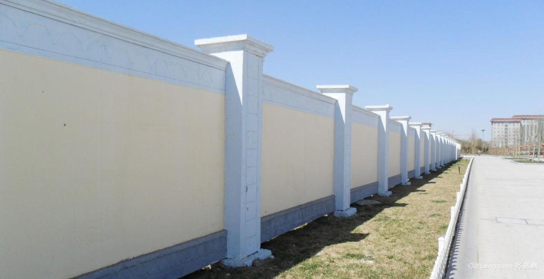 带有家乡特色的围墙设计效果图