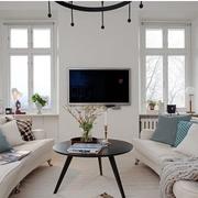白色的北欧客厅