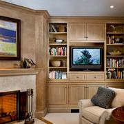 简洁的客厅背景墙