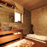 美式风格的浴室