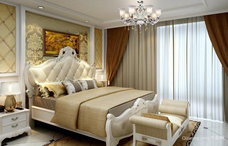 200平米超大奢华法式卧室软装装修设计效果图