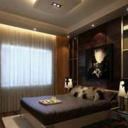 卧室咖啡色的窗帘