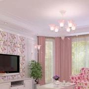 韩式甜美粉色背景墙