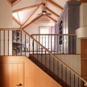 阁楼实木楼梯设计