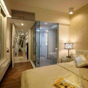 卧室玻璃隔断卫生间