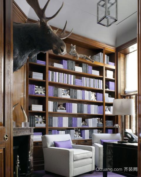 2015法式精品书房装修设计效果图
