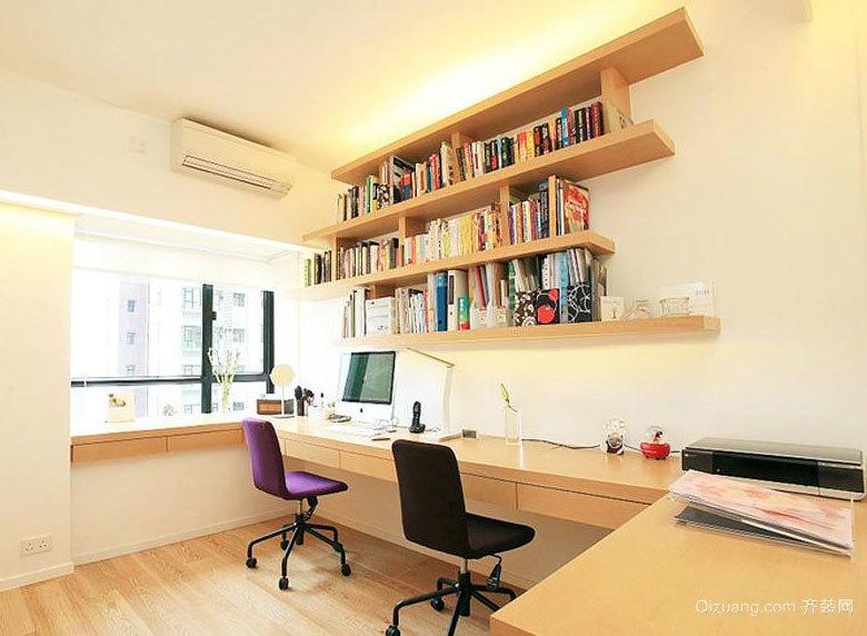 2015时尚简易的现代书房装修效果图大全