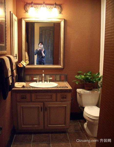 三室一厅美式经典卫生间装修效果图