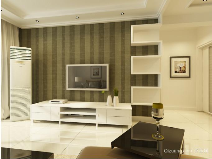 2015日式流行客厅电视背景墙效果图