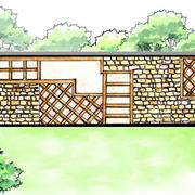 乡村气息十足的围墙