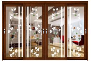 大户型地中海风格厨房移门设计效果图