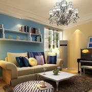 客厅沙发背景置物架