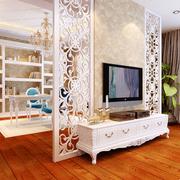 白色时尚的电视墙隔断