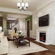 现代美式风格客厅背景墙